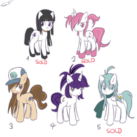 Pony Adoptables 4 by GrowingLight