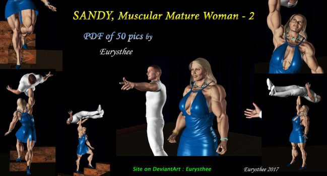 Sandy muscular mature woman -  pdf 2 by eurysthee