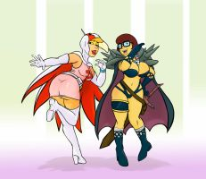 Comm_ Anime Cosplaying Daphne and Velma by ScoobyKun