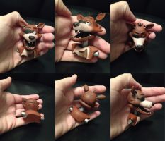 Foxy hand painted 3D print - FOR SALE for $25 by Kina-Axian