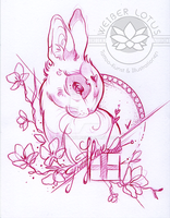 Bunny Tattoo Design by WithyArt