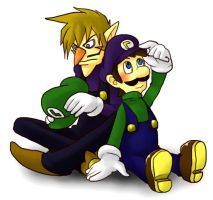 Luigi and Waluigi 4 by tekoyo