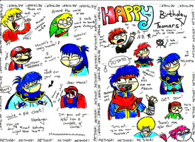 My brother's b-day card by Chloemew4ever