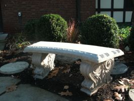 Wildwood Stone Bench by Rubyfire14-Stock