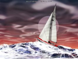 Sunset sailor by rlcwallpapers