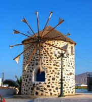 Santorini Windmill by Faunamelitensis