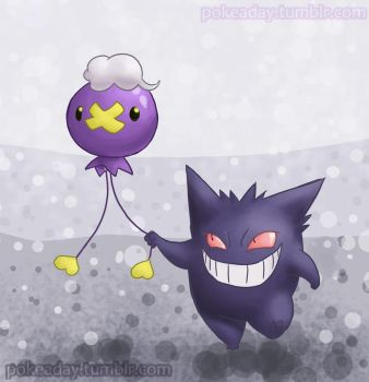 Drfitloon and Gengar by Pokeaday