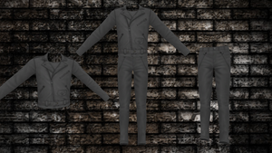 Male Leather Jacket and Pant Set DL by ninjapirate10194