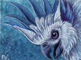 White Griffin ACEO by Foxfeather248