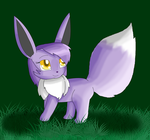 Tiffany the Purple Eevee Feral by KendraTheShinyEevee