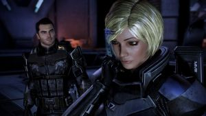Kaidan and my fem Shepard by LadyNaginiWesker