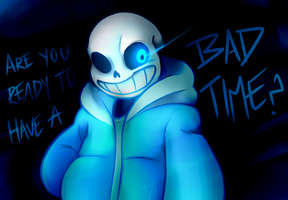Undertale - Bad Time by HoneyCane