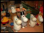 Vintage Moomin Toys by SilverMooPhotography