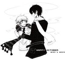 happy october : #123 + #009 by akiicchi