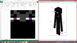 Enderman Scarf Chart WIP by quirkyhime