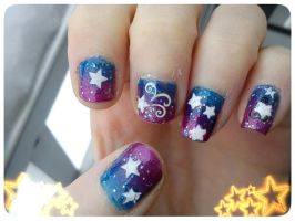 Star Nail Art Design by EnelyaSaralonde