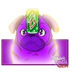 Meredith's Purple Pug by EPZ379