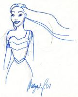 Pocahontas sketch by nadda1984