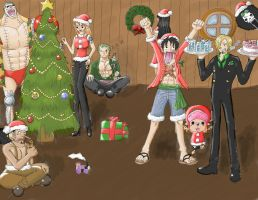 One Piece Christmas by TsukiTheHalfDemon