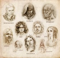Character portraits by Bergholtz