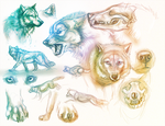 Wolf Sketches by Maquenda