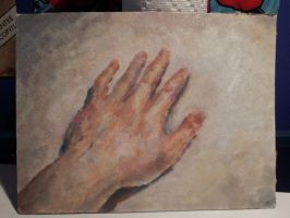 Hand in Oils by AndrewKwan
