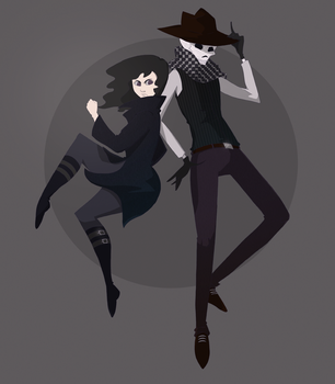 Valkyrie and Skulduggery by applephobia