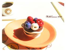Chocolate Fruit Cup Charm by MilkCannon