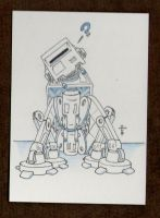 AT-AT Sit Art Card by vonholdt