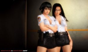 Chinese cops on patrol by bstylez
