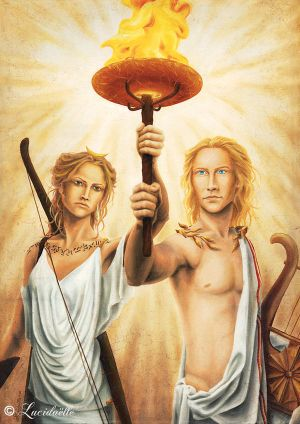 Artemis and Apollon