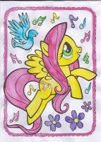 Paint with Water - Fluttershy by Driphtyr