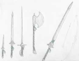 Banded weapon set by dragon-blood-runs