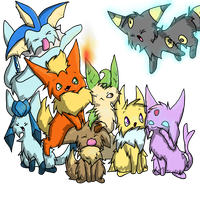 Eeveelutions by XillyWilly