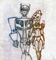 Optimus and Elita-1 by Number-14