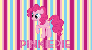 Pinkie Pie Wallpaper Striped by StrawberryHollow