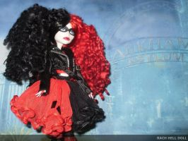 monster  high custom repaint daughter of harley by Rach-Hells-Dollhaus