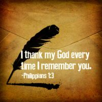 Philippians 1:3 by Treybacca
