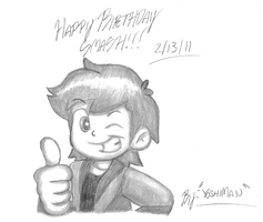 Happy Birthday Smash by YoshiMan1118