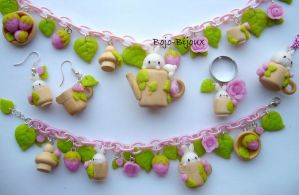 """Spring bunny"" jewerly set by Bojo-Bijoux"
