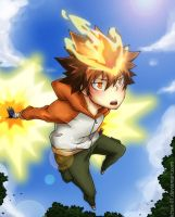 burning tsuna by ichan-desu