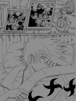 Kakashi sleeping (Manga Naruto) by KiddyDarling