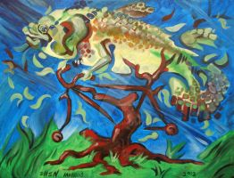 Fish on a Bicycle in a Tree by ellemrcs