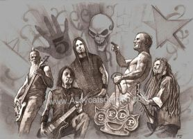 Five Finger Death Punch by Alleycatsgarden