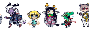 COMMISSION: DnD Group 3 by Cubesona