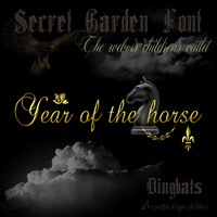 Secret Garden Font Year Of The Horse by TheAngeldove