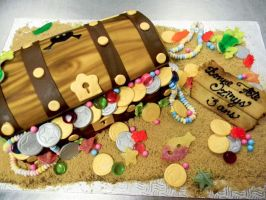 treasure chest cake by buttercreamfantasies