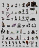 All the Silent Hill monsters by Weird-eye