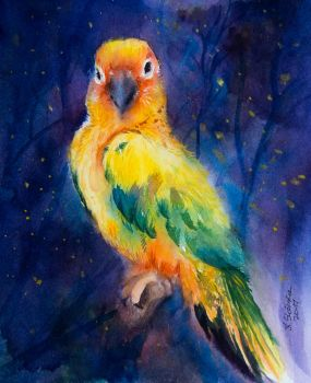 Card 13 Parrot by EarlyOctober
