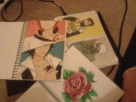 My Favourite Watercolour works thus far by Shinigamichick39
